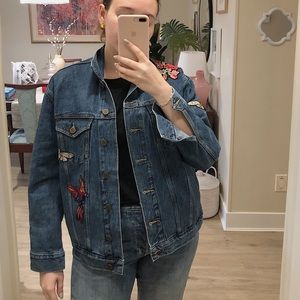 Aritzia Littlemoon Patchwork Denim Jacket